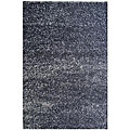Hand-woven Casual-style Maroon/ Blue Polyester Rug (5' x 8')