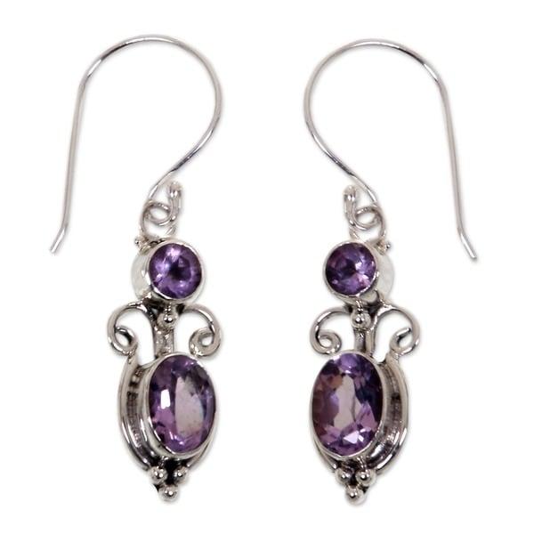 Crown Princess Handmade Artisan Designer Women's Clothing Accessory Sterling Silver Purple Amethyst