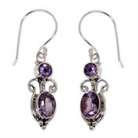 Crown Princess Handmade Artisan Designer Women's Clothing Accessory Sterling Silver Purple Amethyst