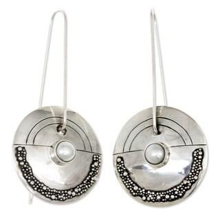 Link to Handmade Moonlight Sand Unique Freshwater Pearl Earrings (Indonesia) Similar Items in Earrings