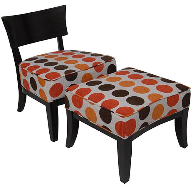 Metro Chair and Ottoman Set