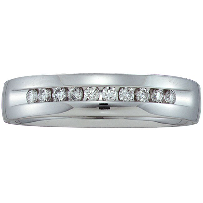 Unending Love 14k White Gold Men's 1/4ct TDW Diamond Band