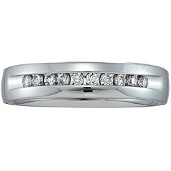 Unending Love 14k White Gold Men's 1/4ct TDW Diamond Band (HI, I1)