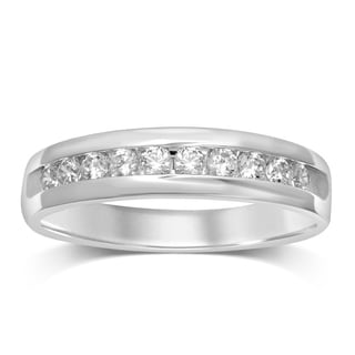 Unending Love 14k Gold Men's 1/2ct TDW Diamond Band