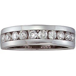Unending Love 14k White Gold Men's 1ct TDW Diamond Band (H-I, I1)