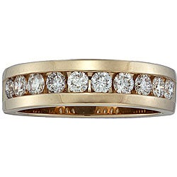 Unending Love 14k Yellow Gold Men's 1ct TDW Diamond Band (H-I, I1)