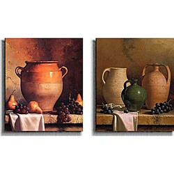 Loran Speck 'Jugs and Jars' Canvas Art 2-piece Set