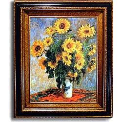 Claude Monet 'Sunflowers' Framed Canvas Art