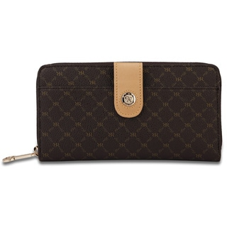 Rioni Signature Button Zip Wallet