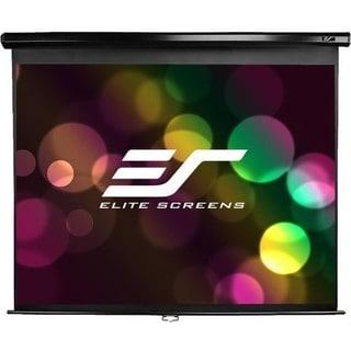 Elite Screens M119UWS1 Manual Ceiling/Wall Mount Manual Pull Down Pro