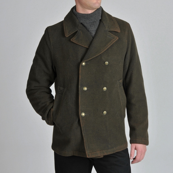 Excelled Men's Washed Fatigues Peacoat