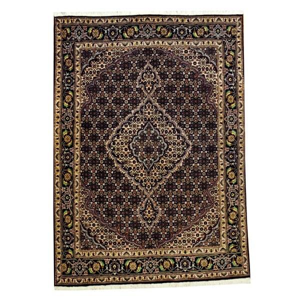 Herat Oriental Persian Hand-knotted Tabriz Wool Rug (5' x 7')