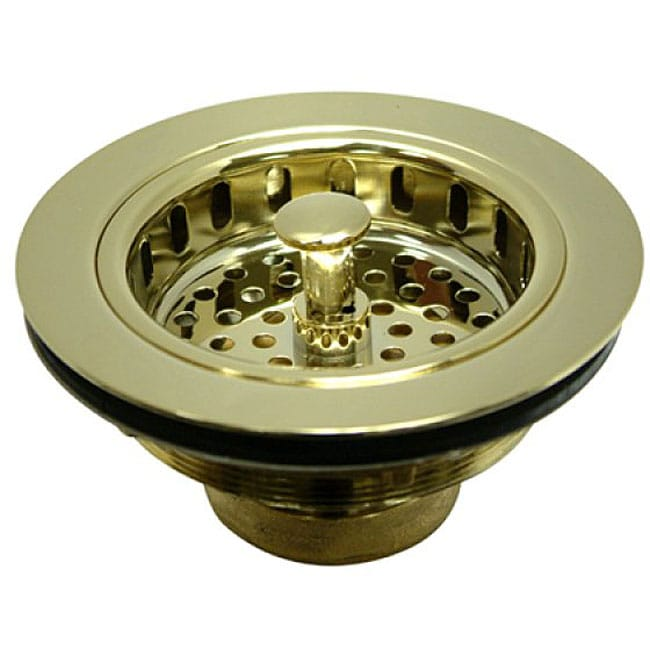 kitchen sink basket strainers shop kitchen sink brass basket strainer free shipping 5647