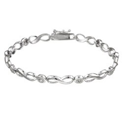 DB Designs Sterling Silver Diamond Accent Infinity Bracelet
