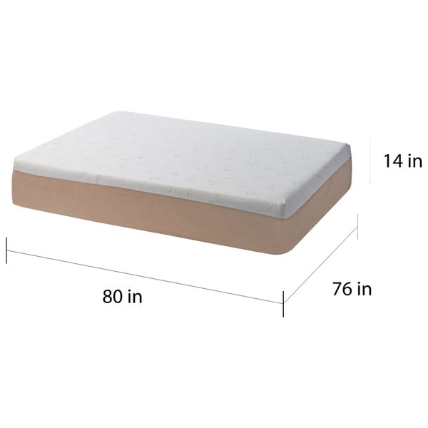 Comfort Dreams Select A Firmness 14 Inch King Size Memory Foam