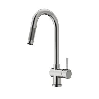 VIGO Gramercy Stainless Steel Pull-Down Kitchen Faucet