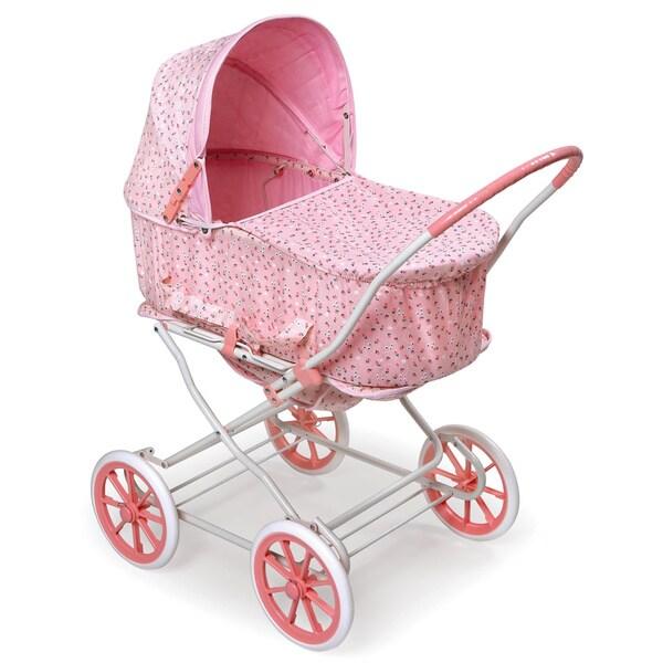 Pink Rosebud 3-in-1 Doll Pram/ Carrier/ Stroller - Free ...
