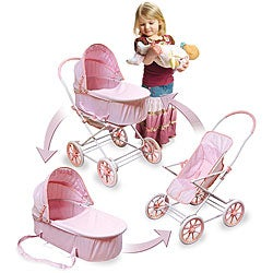 Pink Gingham Doll Toy Pram, Carrier and Stroller https://ak1.ostkcdn.com/images/products/3437620/3/Pink-Gingham-Doll-Toy-Pram-Carrier-and-Stroller-P11514831.jpg?_ostk_perf_=percv&impolicy=medium