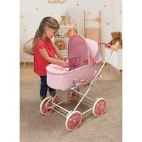 Badger Basket Just Like Mommy 3-in-1 Doll Pram/Carrier/Stroller - Pink/Gingham
