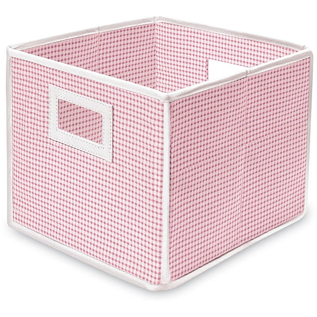 Pink Gingham Folding Storage Cubes (Pack of 3) - Thumbnail 0