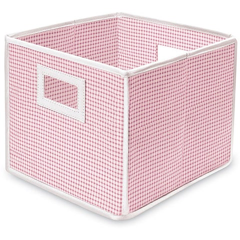 Pink Gingham Folding Storage Cubes (Pack of 3)