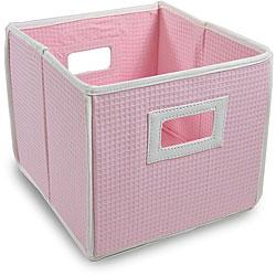 Pink Waffle Folding Storage Cubes (Set of 3)