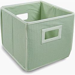 Sage Waffle Folding Storage Cubes (Set of 3)