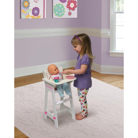 Badger Basket Doll High Chair with Accessories and Personalization Kit