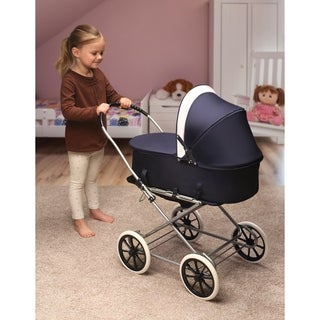 Just Like Mommy 3-in-1 Doll Pram/Carrier/Stroller - Navy/White