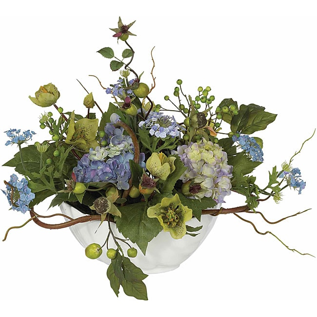 Hydrangea silk flower centerpiece arrangement free