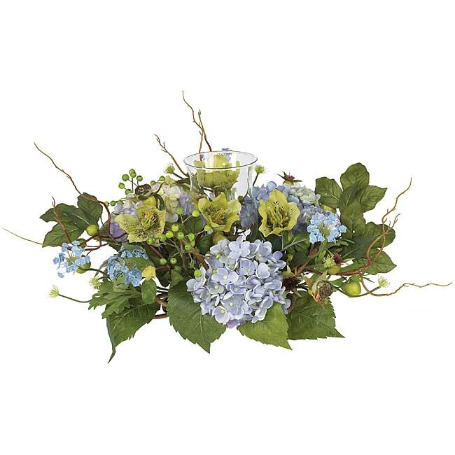 Shop Hydrangea Candleabrum Silk Flower Arrangement Free