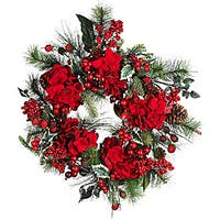 Festive Hydrangea Wreath