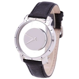 Akribos XXIV Spacely Unisex Floating Quartz Silver-Tone Watch with FREE GIFT