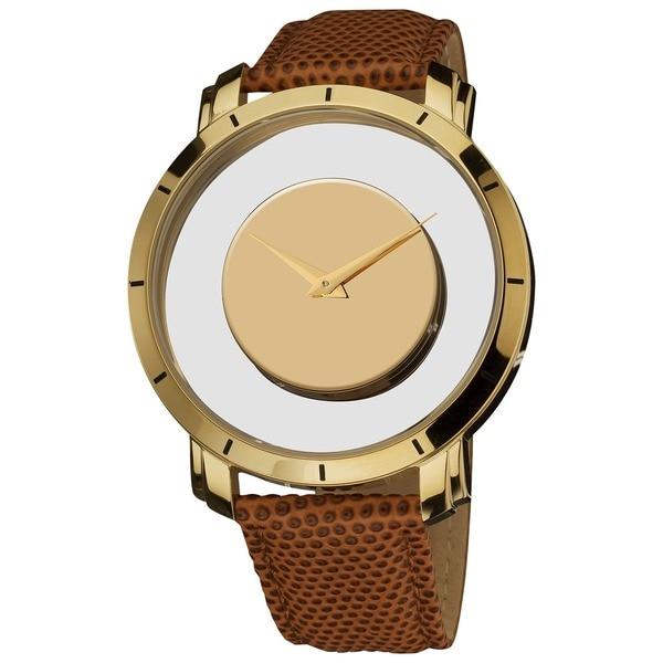 Akribos XXIV Spacely Unisex Quartz Gold-Tone Round Watch