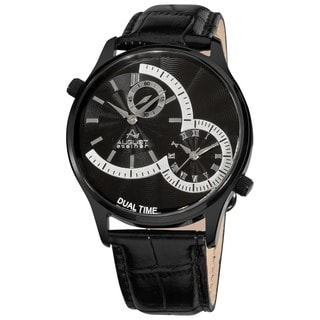 August Steiner Dual Time Men's Black Watch