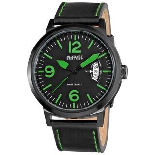 August Steiner Bright Men's Stainless Steel Quartz Green Watch