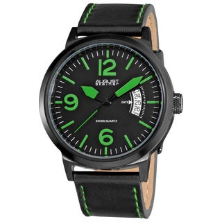 August Steiner Bright Men's Stainless Steel Quartz Green Watch