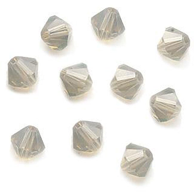 Beadaholique Light Grey Opal Austrian Crystal 4-mm Bicone Beads (Case of 50)