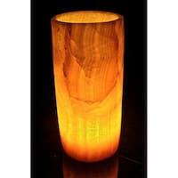 Handmade Alabaster Cylinder Lamp (Egypt)