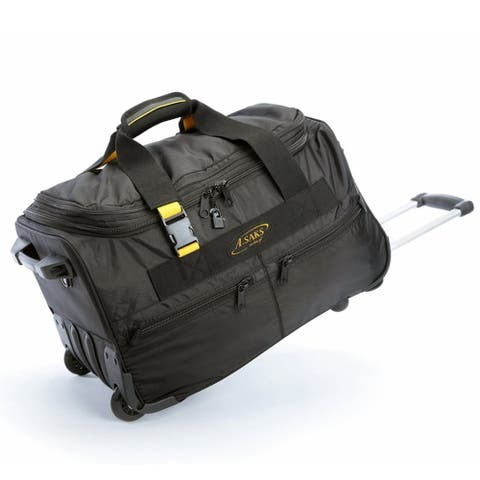 A.Saks Lightweight Expandable 20-inch Carry-On Rolling Duffel