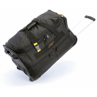 A.Saks 25-inch Expandable Wheeled Upright Duffel Bag