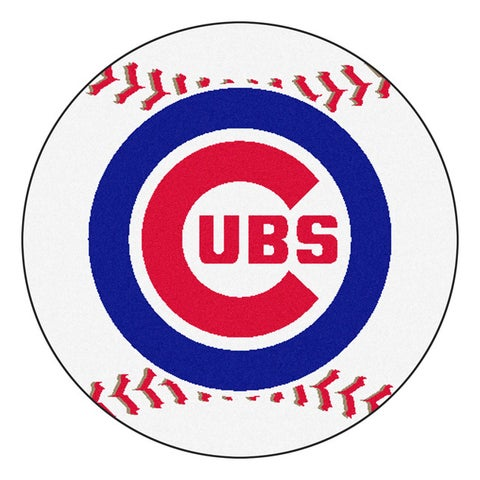 Chicago Cubs Baseball 27-inch Rug