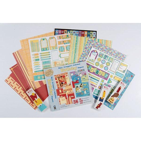 Busy Scrapper's Birthday 12x12 Scrapbook Kit