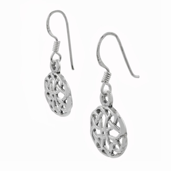 Journee Sterling Silver Celtic Knot Dangling Earrings