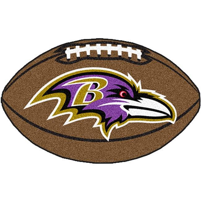 Baltimore Ravens Football Mat (22 in. x 35 in.)