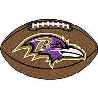 Baltimore Ravens Football Mat (22 in. x 35 in.)