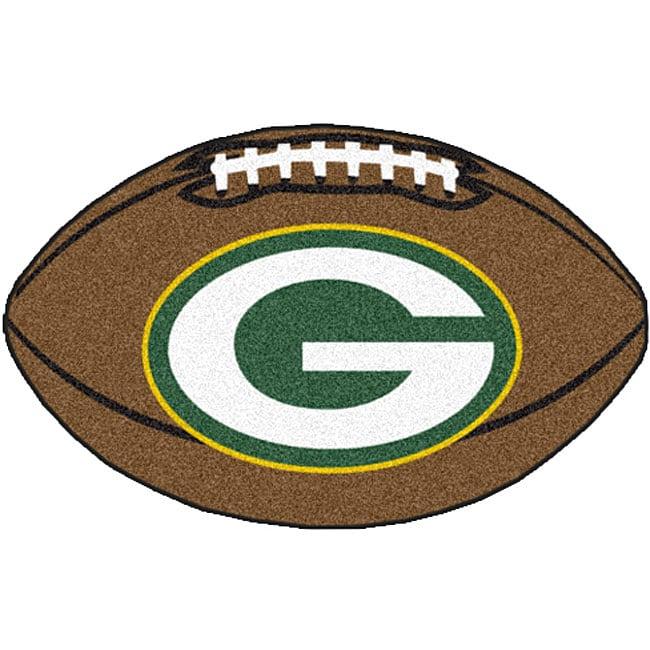 Fan Mats Green Bay Packers 22x35-inch Football Mat (Nylon)