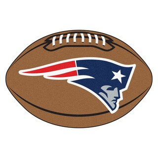 Fanmats NFL New England Patriots Football Mat (22 in. x 35 in.)