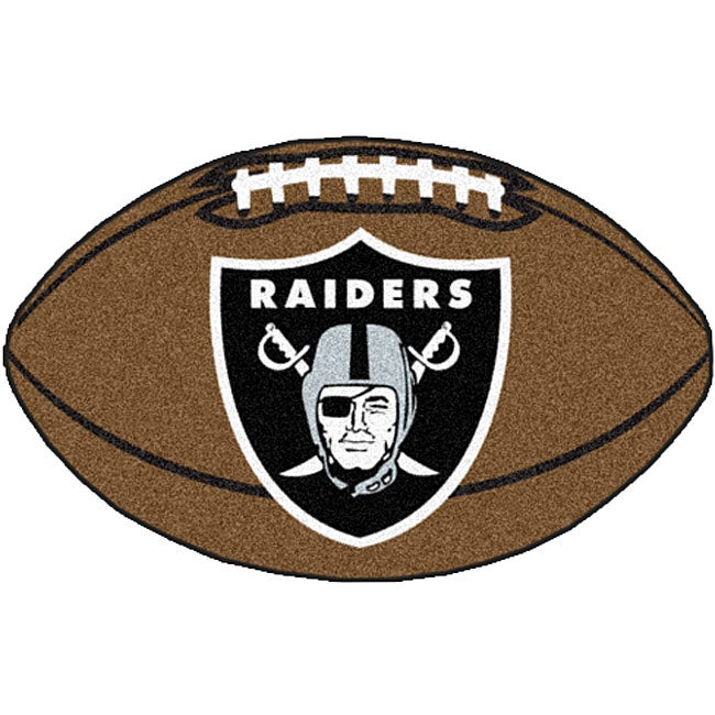 Fanmats Nfl Oakland Raiders Football Mat 22 In X 35 In Free Shipping On Orders Over 45