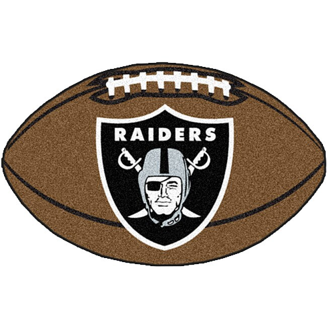 Fanmats NFL Oakland Raiders Football Mat (22 in. x 35 in.)